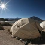 Nasz obóz przy Laguna Verde