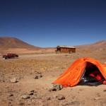 Refugio Santa Rosa - nasze namioty i samochód